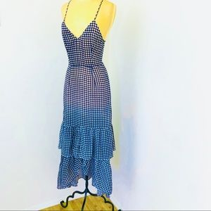 PrettyLittleThing Gingham Maxi Dress Size US 6